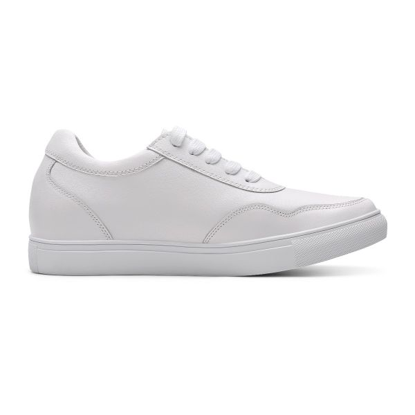 Simple White Sneakers - Pebble White