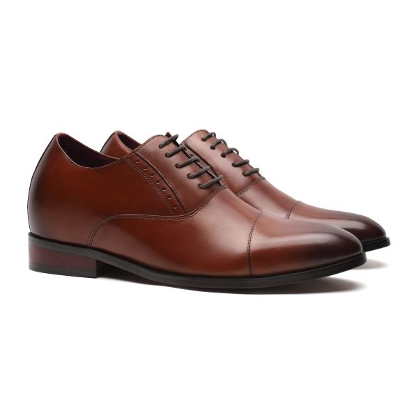 Tony Captoe Oxford - Dark Cocoa Brown