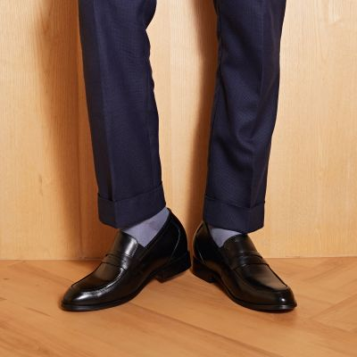 Smooth-Sailing Penny Loafers - Caviar Black